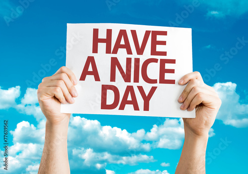 Photo  Have a Nice Day card with sky background