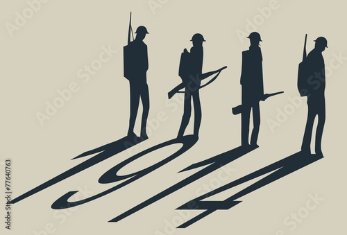 1914 ww1 soldiers Fototapeta