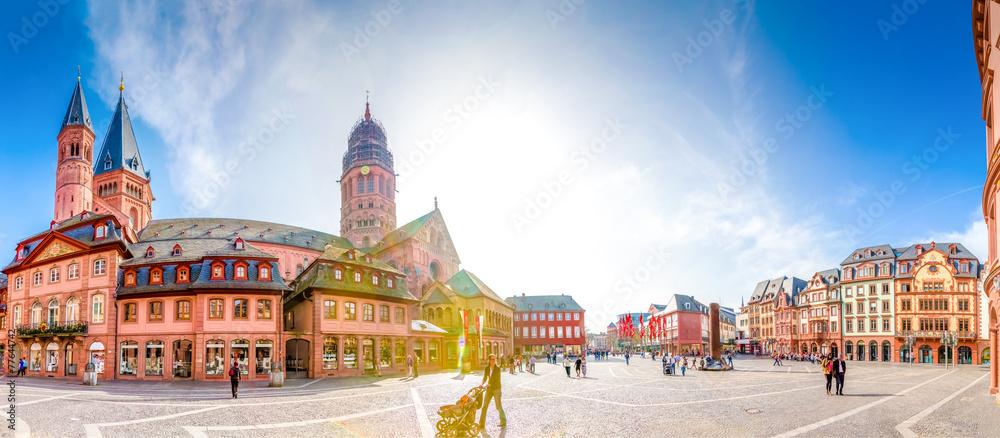 Fototapety, obrazy: Mainzer Dom und Domplatz Panorama