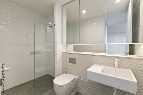 Valokuva  modern bathroom in luxury apartment