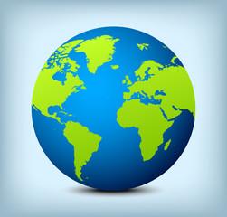 Fototapeta vector blue and green globe icon