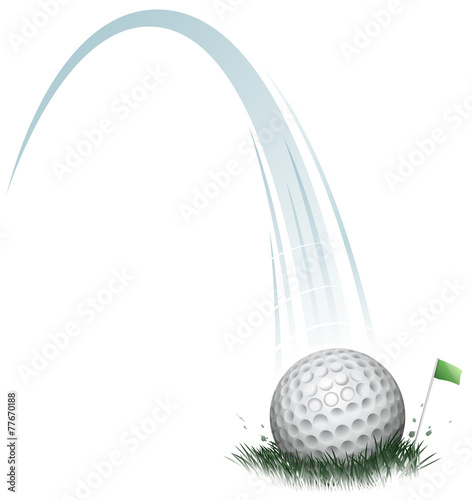 Slika na platnu golf ball action