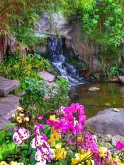 Fototapetalandscaping. tropical garden