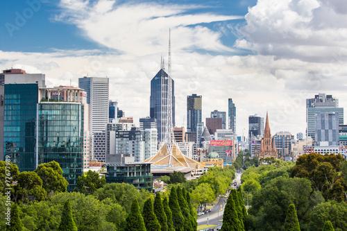 View of Melbourne CBD