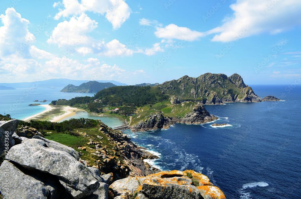 Fototapety, obrazy: The Cies Islands (Ria de Vigo, Galicia)