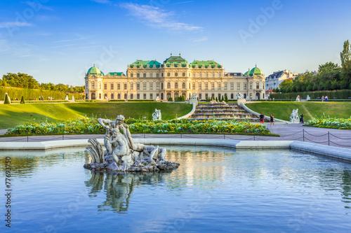 Deurstickers Wenen Schloss Belvedere #2, Wien