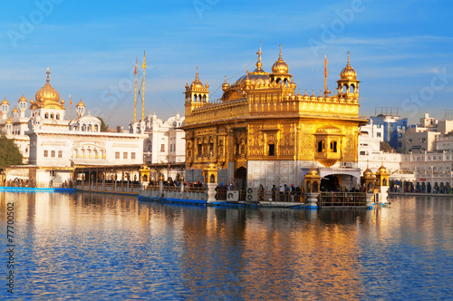 Wall Murals Place of worship Golden Temple in Amritsar. India