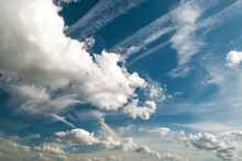 Blue Sky With Various Shapped Cloud Formations