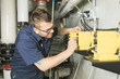 repairman engineer of fire engineering system or heating system