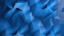 Abstract Dark Blue Low Poly Ba...