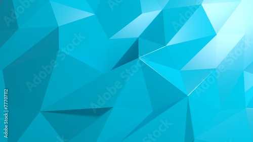 Abstract blue low poly background