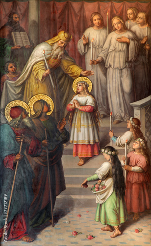Obraz na plátně Vienna - Presentation of Virgin Mary in the Temple