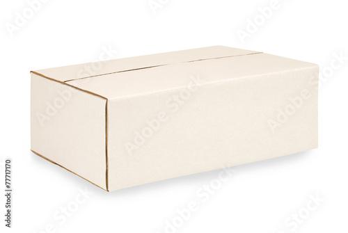 Photo  Closed oblong cardboard box