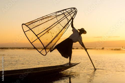 Photo Birmania fishermen
