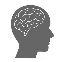 Silhouette Head With The Brain