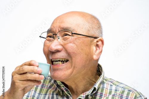 Fotografie, Obraz  日本酒とシニア