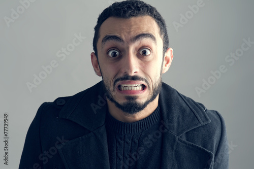Fotografia, Obraz  Man with a surprised facial expression, Surprise,