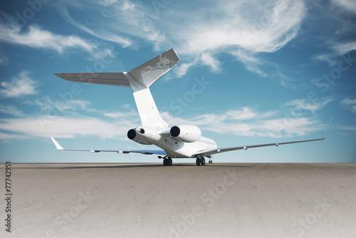 Photographie Affaires jet avion au sol.
