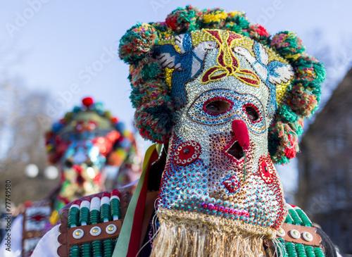 Keuken foto achterwand Oost Europa Surva mask costume festival