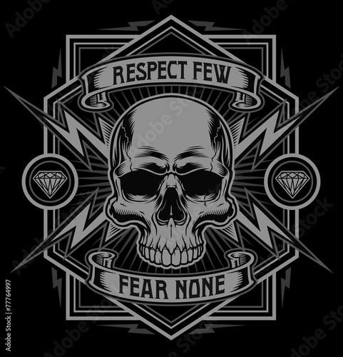 Photo Respect skull lightning graphic