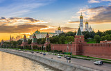 Sunset view of Kremlin in Moscow, Russia