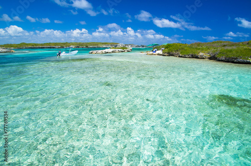 Foto op Canvas Groene koraal tropical sea