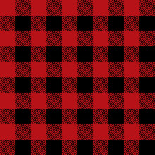 Tiled Red And Black Flannel Pa...