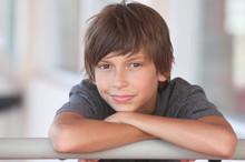 Portrait Of A Happy Boy Outdoors