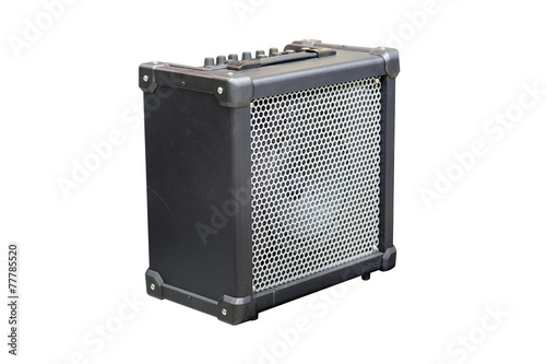 Photo Guitar amplifier isolated under the white background