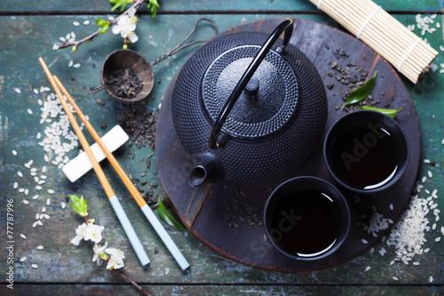 Fotografie, Obraz  Asijské čajový set