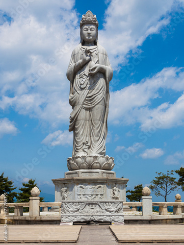 Statue in Naksansa Temple in Sokcho, South Korea Poster