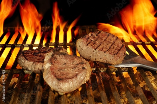 Beefsteaks on the Flaming Grill - 77789953