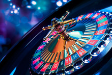 Roulette Wheel With A Bright A...