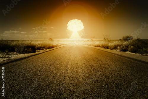 nuclear bomb explosion Wallpaper Mural