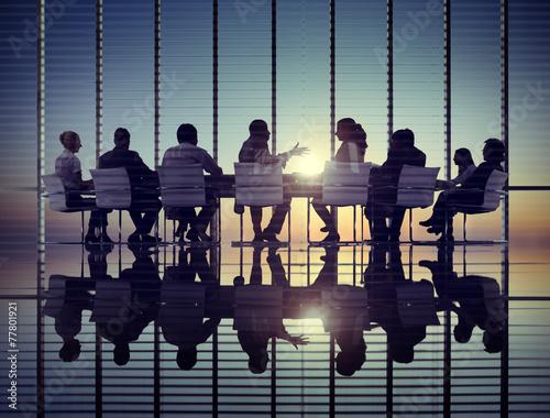 Fotografía  Los empresarios de comunicación corporativa Reunión concepto de oficina