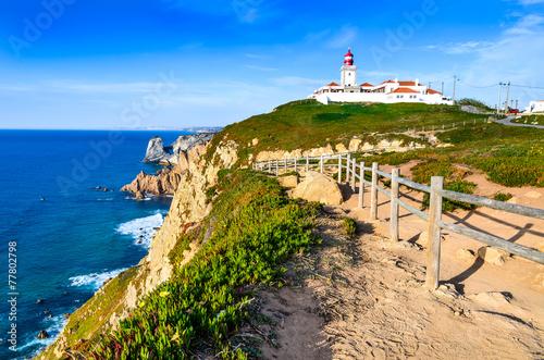 Foto auf AluDibond Himmelblau Cabo da Roca, Portugal