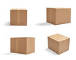 canvas print picture - box package delivery cardboard carton