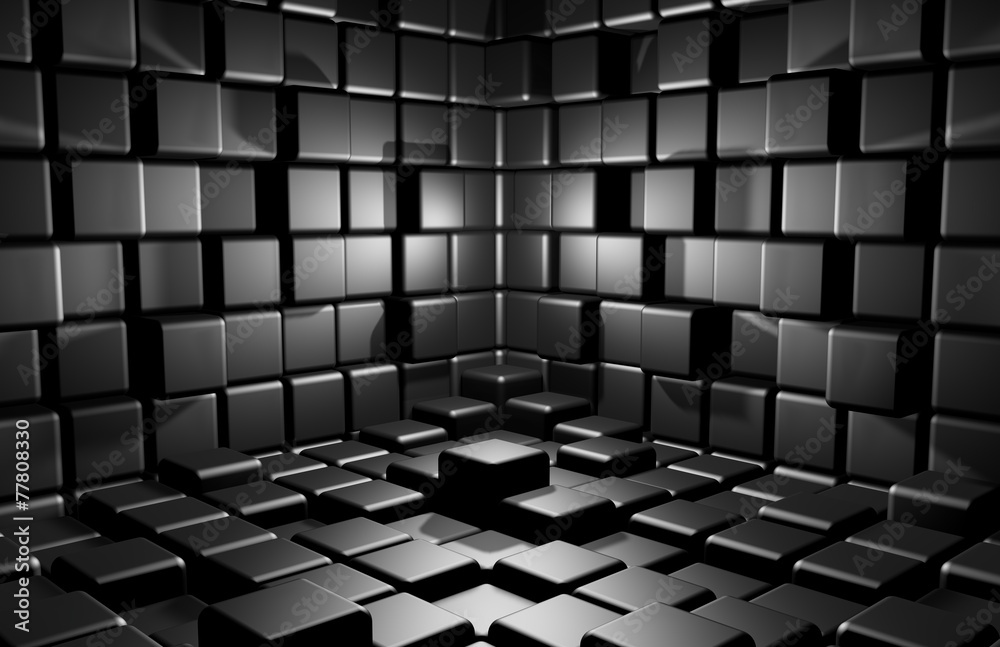 Fototapeta Abstract cubes background