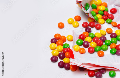 Canvas-taulu Full of skittles openned pack