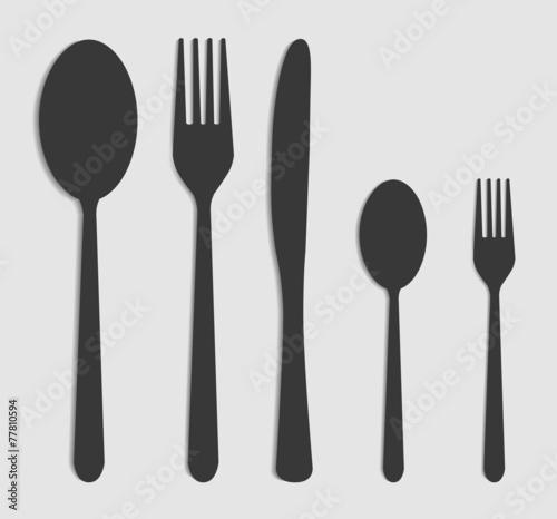 Fotografie, Obraz  cutlery set