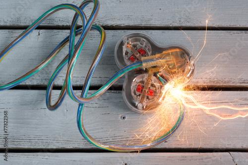 Valokuva  Short Circuit on Extention Cord