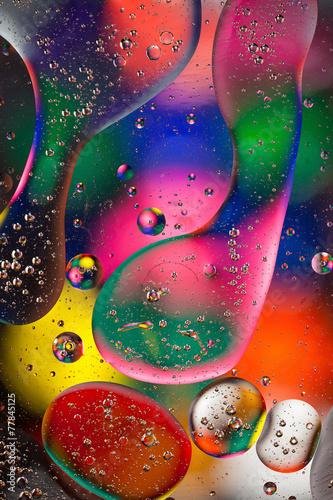 Abstrakcja olej i woda