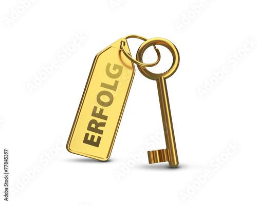 Keuken foto achterwand Paardebloem Schlüssel zum Erfolg Gold