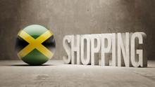 Jamaica. Shopping Concept.