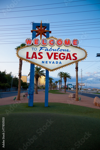 Photo  The Welcome to Fabulous Las Vegas neon sign