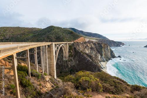 The Historic Bixby Bridge.  Pacific Coast Highway California Poster