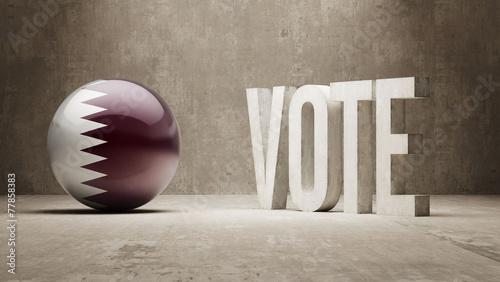 Fényképezés  Qatar. Vote Concept.