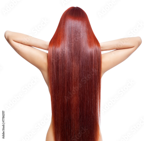 Fotografía Nude woman with long red hair