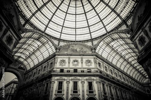 Autocollant pour porte Milan Dome of Galleria Vittorio Emanuele II, Milan Italy