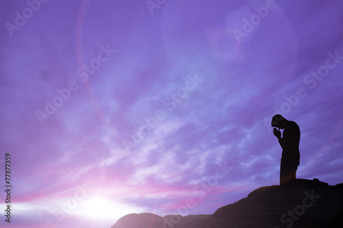 Foto prayer on mountain top